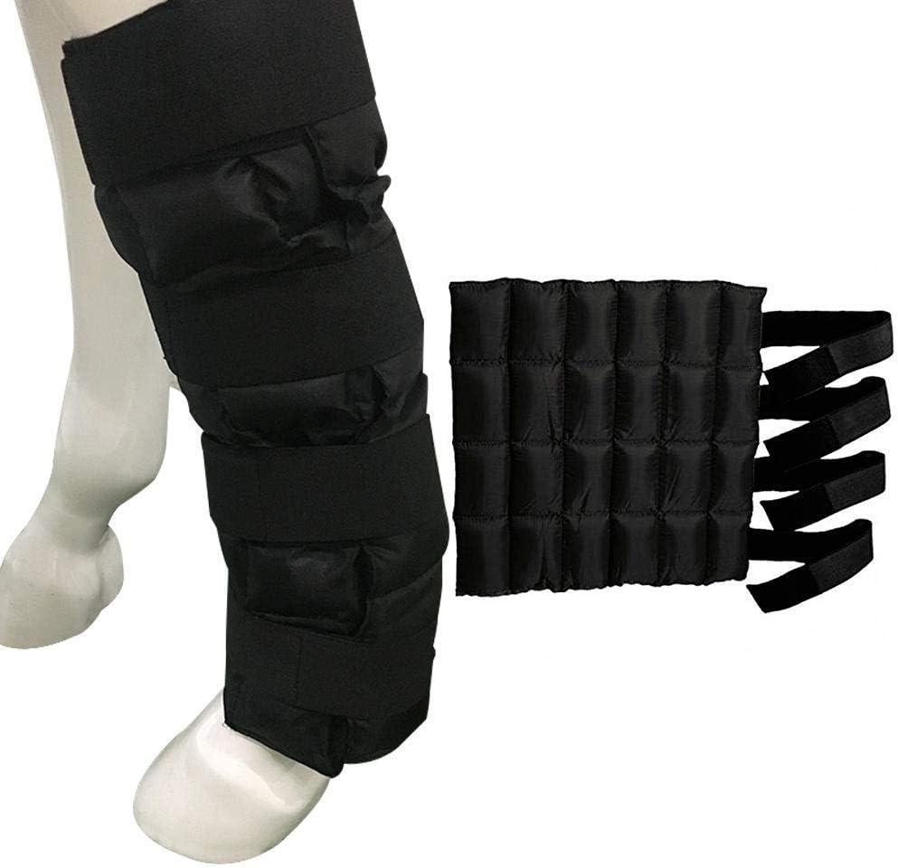 Meiruyu Protector de Pierna Ecuestre Paquete frío/Bota de Hielo para Caballo de enfriamiento/con 24 Paquetes de Hielo pequeños/para Lesiones de Caballos Dolor Muscular (02)