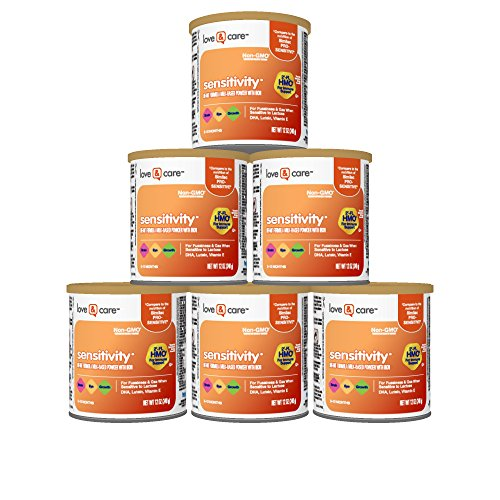 Love & Care Sensitivity Non-GMO Milk-Based Powder Infant Formula with Iron, 12 Ounce (Pack of 6)