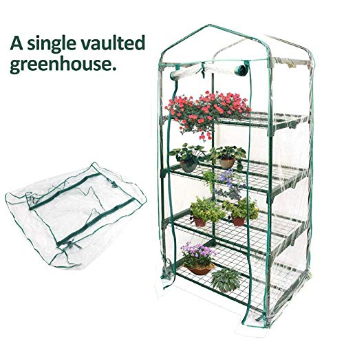 Fdit Portable Winter Outdoor Transparent PVC Mini Greenhouse Cover Waterproof 27.17″ Long19.27 Wide36.22 High (36.22inch)