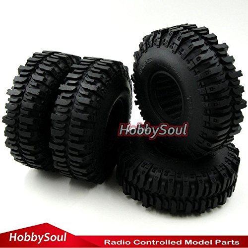 Comp Crawler Kit - 4pcs RC 1/10 120mm Crawler Super Tires Tyre W/ Foam for 1.9