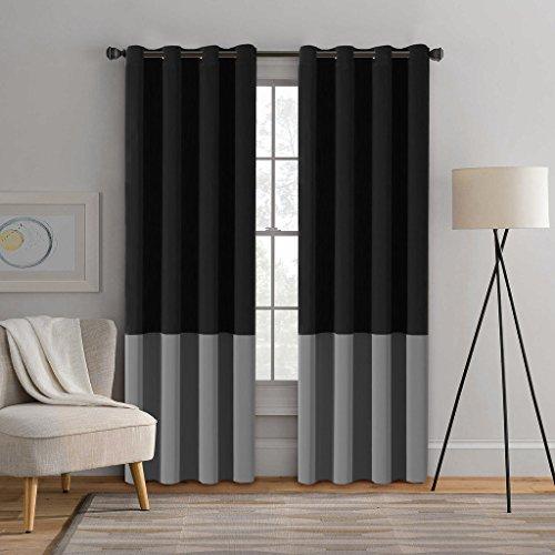 Black and grey curtains - StoreIadore