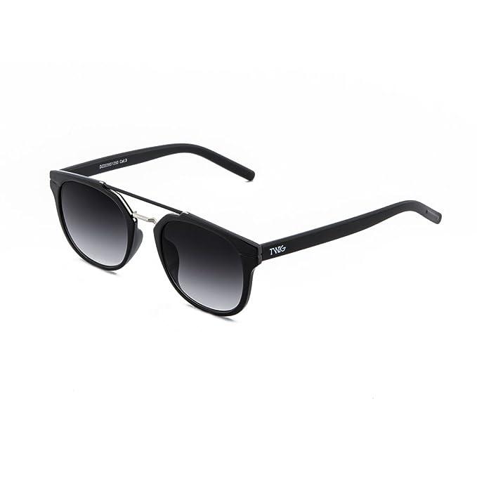Sonnenbrille TWIG Bukowski Herren/Damen Verspiegelt Jahrgang Retrò Schwarz/Blau UCeg2B7CPg