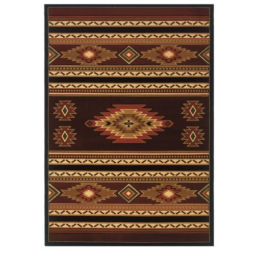 Southwest Terra Cotta - United Weavers of America Contours Cem Soaring Diamond Terracotta Rug - 1ft. 10in. x 2ft. 8in. Multicolor Olefin Rug with Jute Backing, Thick Pile