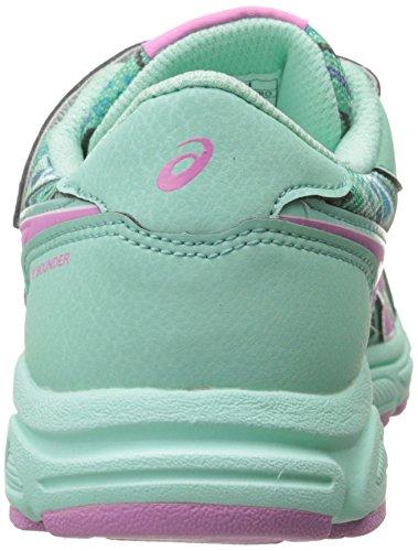Asics Pre Bounder Zapatilla de Running PS (Toddler/Little Kid) Beach Glass-Pink-Bremuda