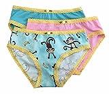 Esme Girl's Panty-L 7-8 Cute Monkey