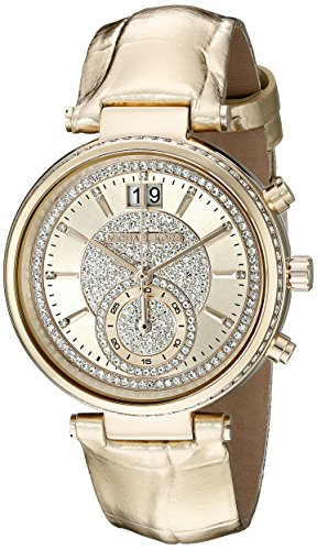 Michael Kors Women's Sawyer Gold-Tone Watch MK2444