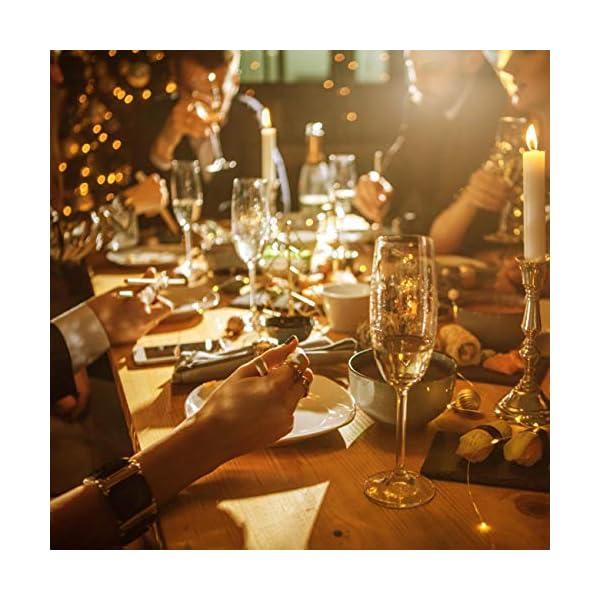 (12 pezzi) Luci per Bottiglia, kolpop Tappi LED a Batteria per Bottiglie, Filo di Rame Led Decorative Stringa Luci da Interni e Esterni per Festa, Giardino, Natalizie, Matrimonio (Bianco Caldo) 3 spesavip