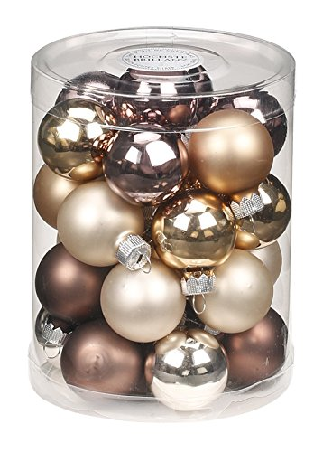Christbaumkugeln Cappuccino.Glass Christmas Tree Baubles Decoration Pack Of 28 Baubles 3