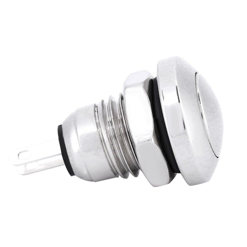 KIMISS 1A 24V 8mm Mini wasserdichte Auto Momentary Push Button Power Switch