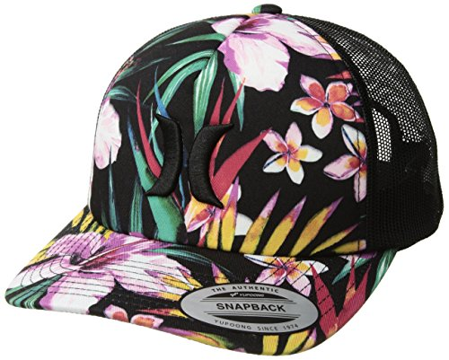 Hurley Women's Floral Garden Hat, Black, Qty (Women Hurley Hat)
