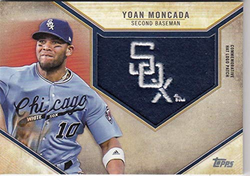 2019 Topps Retro Hat Manufactured Logo Patches #RHLP-YMO Yoan Moncada NM-MT+ MEM Chicago White Sox from Topps