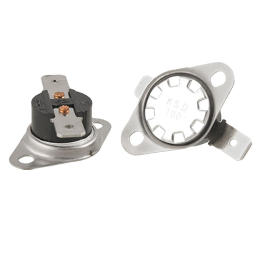 uxcell KSD Series Temperature Control Switch Thermostat 100 Celsius N.C 2pcs