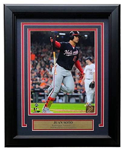 Juan Soto Washington Nationals Framed World Series Game 6 Bat Carry 8x10 Photo