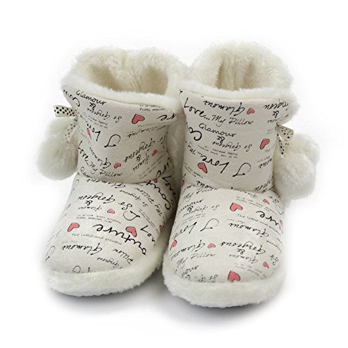 Winter Slipper Indoor Gohom Boots Womens Warm White House 7RqfF4gfH