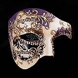 Purple Musical Men's Half Mask Music Design Mask Mardi Gras Venetian Mask Halloween Ball Masquerade Mask