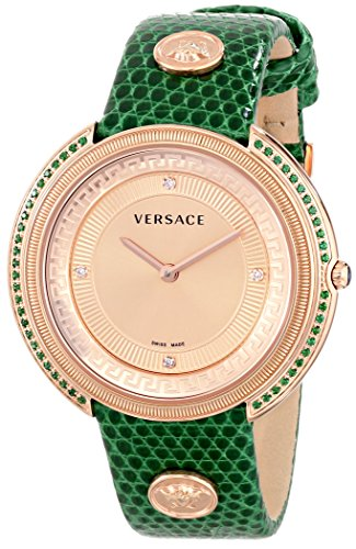 Versace-Womens-VA7090014-THEA-Analog-Display-Quartz-Green-Watch
