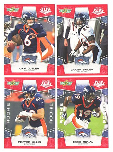 Broncos Team Denver Bowl Super - 2008 Score Super Bowl XLIII RED Team set - DENVER BRONCOS