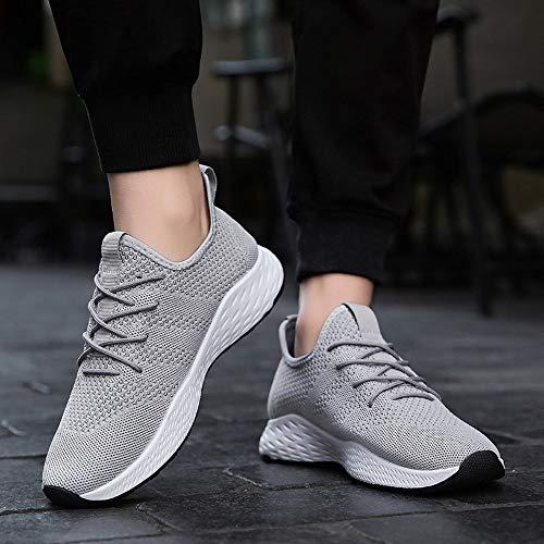 Zapatillas Confortable Hombres ALIKEEYTranspirable Antideslizante Gris Suave Zapatos Los De Hombres Malla Haaq45