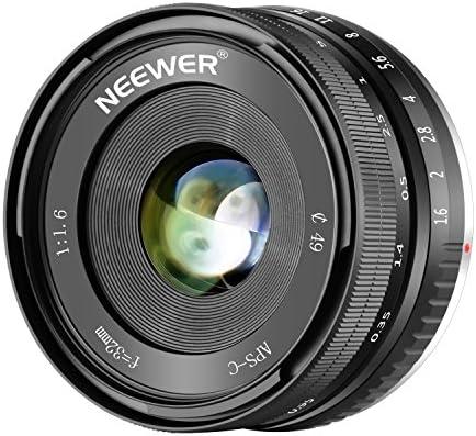 Neewer 32mm F/1 6 Manual Focus Prime Lens Sharp High