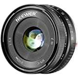 Neewer 32mm F/1.6 Manual Focus Prime Lens Sharp High Aperture, Compatible with Sony E-Mount APS-C Mirrorless Camera like SONY NEX 3, 3N, 5, 5T, 5R, 6, 7, a7, A5000, A5100, A6000, A6100 A6300 A6500 A9