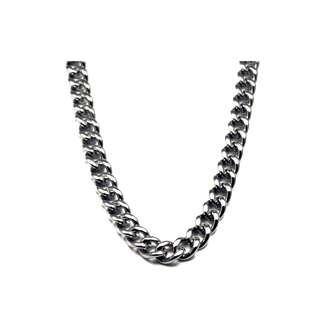 6.9mm Titanium Men's Curb Link Necklace Chain by Accents Kingdom (Image #1)