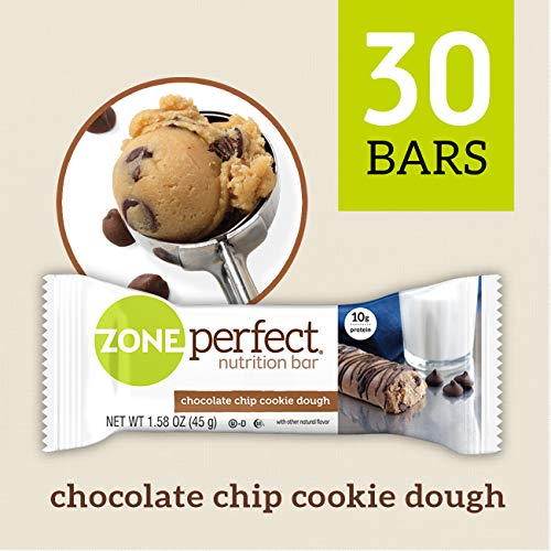 - 	ZonePerfect Nutrition Snack Bars, Chocolate Chip Cookie Dough, 1.58 oz, (30 Count)