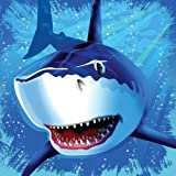 16-Count Paper Lunch Napkins, Shark Splash