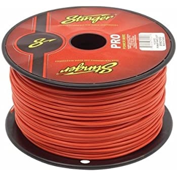 250 Foot Full Spool of Stinger HPM Series Matte Grey 8 Gauge Copper Power Wire