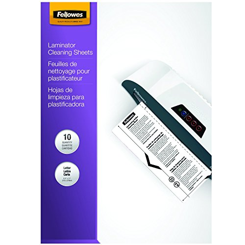 Fellowes Laminator Cleaning Sheets, 10 per Pack