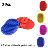 maylit Pet Brush, Shampoo Brush Scalp Massager Hair Remover Curry Comb Dog & Cat Grooming Brush, Pet Hair Brush Cleaning Slicker Brush Removes Tangles Lint Brush for Pet Hair (2 PCS)