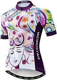 Women's Cycling Jersey, Short Sleeved Bike Shirt Mountain Jersey Comfortable Quick Dry Wear
