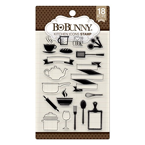 Bo Bunny 7310253 Kitchen Icons Stamp, Multicolor