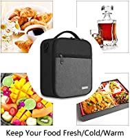 d0ad5c55b0c8 Lunch Box with Padded Liner,Amersun Spacious Insulated Lunch Bag Durable  Thermal Lunch Cooler Pack with Strap for Boys Men Women Girls Adults School  ...