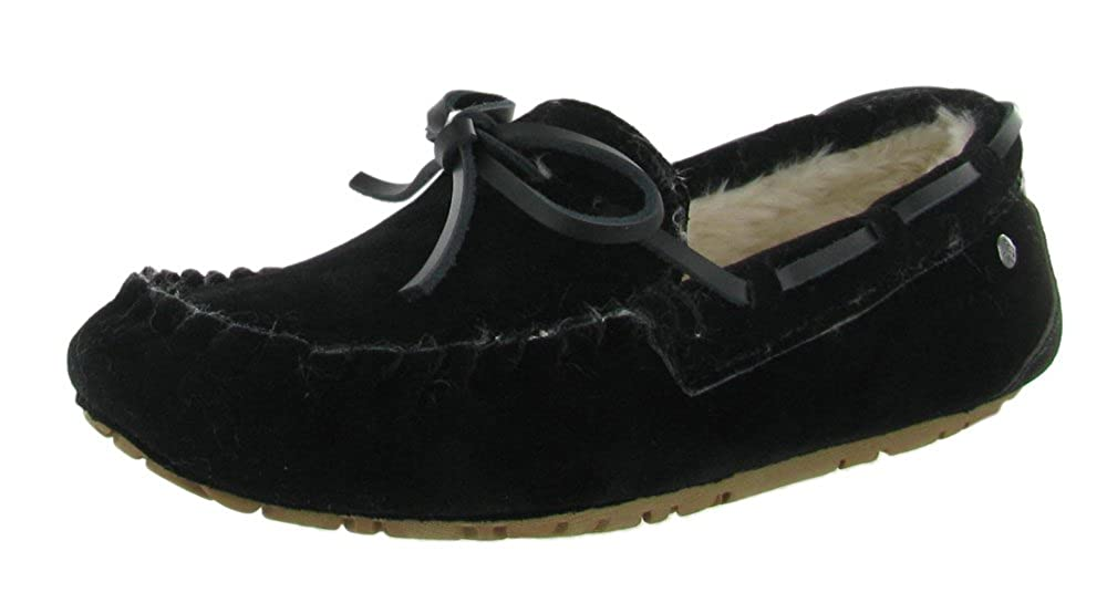 Groove Comfy Womens Slippers Moccasins Faux Sheepskin Faux Fur