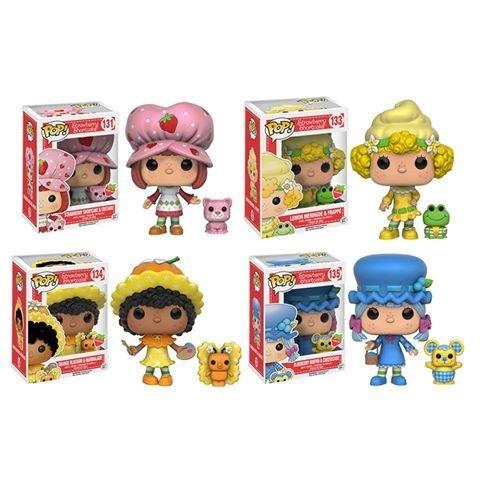 Strawberry Shortcake Orange Blossom, Blueberry Muffin, Lemon Meringue, and Custer Scented Pop! Vinyl Figures! Set of -