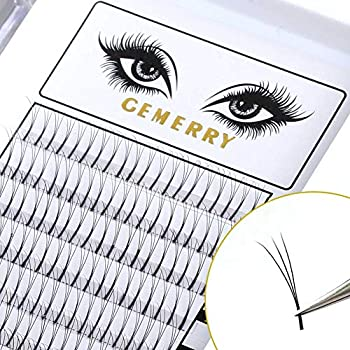 b65d47e67bf 0.7mm Volume Lash Extensions, C Curl 8-14mm Mixed Tray 3D Eyelash  Extensions Fans Silk Natural Premade Professional Individual Cluster Eyelash  Extensions by ...