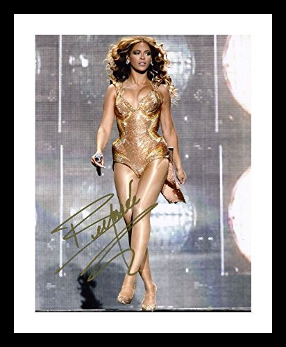 Beyonce Autographed Signed And Framed A4 21cm x 29.7cm Poster Photo DWPrint