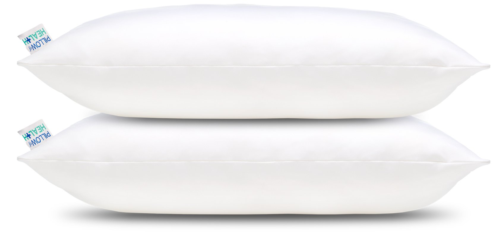 PILLOW of HEALTH - King 2 Pack | Luxury, Adjustable, Therapeutic Pillow For Better Sleep | Patented Design | Antimicrobial, Hypoallergenic, Dust Mite Resistant | Made in America