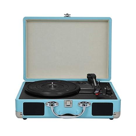 Amazon.com: Docooler Turntable con altavoces Vintage BT ...