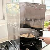 Protection anti claboussures en acier inoxydable pour plaque de cuisson 56 x 49 cm - Anti projection cuisine ...
