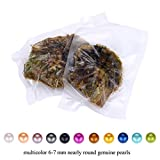 HENGSHENG 1 PC Saltwater Akoya Oyster with 6-7mm Round Pearl Inside Jewelry Making Charms(bcpo003-1)