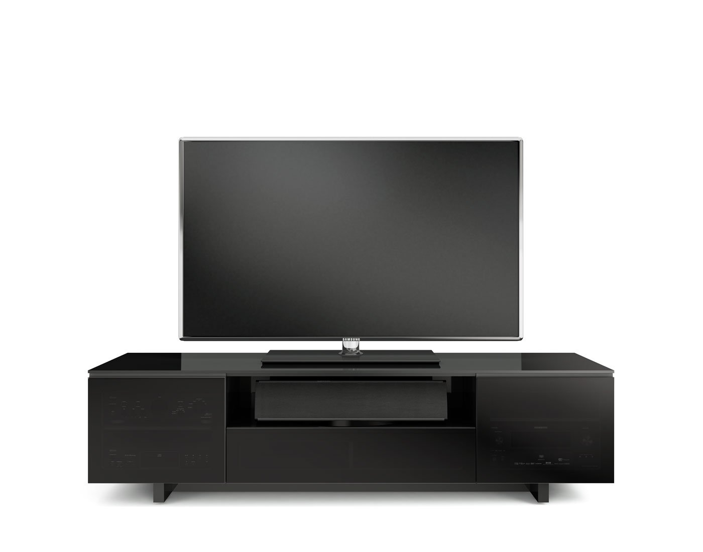 Amazon.com: BDI Nora 8239 Quad Wide Entertainment Cabinet, Gloss ...