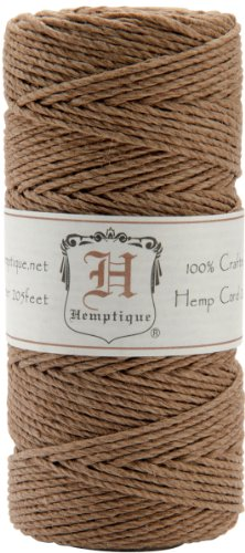 Hemptique Hemp Cord Spool, 20-Pound, Light Brown
