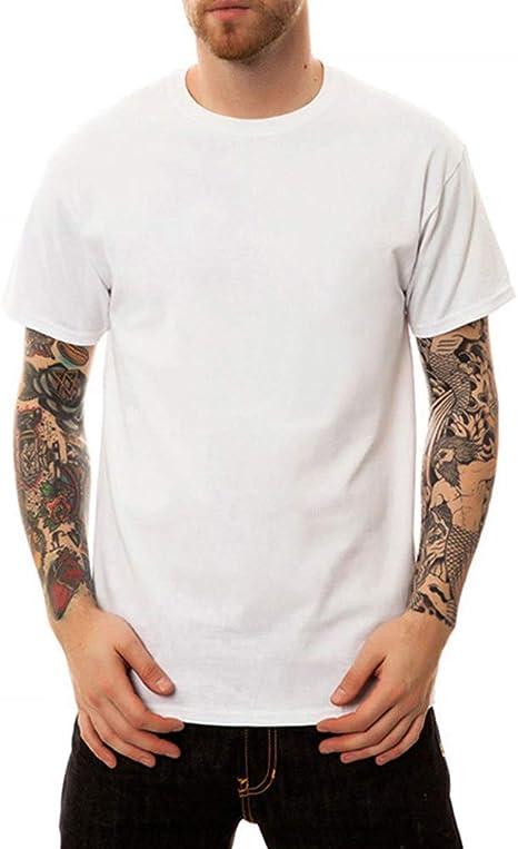 RUIXIAO Camiseta de algodón de Manga Corta con Estampado de Dibujos Animados del cráneo de los Hombres Casual Moda Juvenil Verano Top Camisa Suelta de Manga Corta para Hombre Blanca: Amazon.es: Deportes