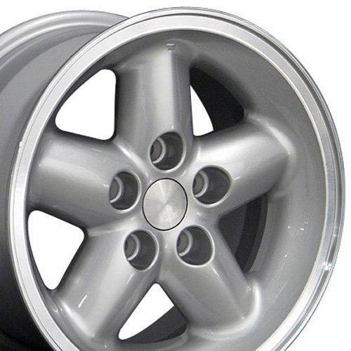 15x8 Wheel Fits Jeep Wrangler - Jeep Wrangler Style Silver Rim