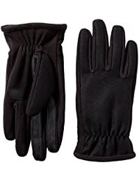 Men's Wool-Blend Gloves with Gathered Wrist