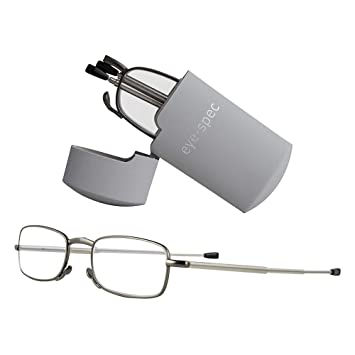 819b5061d332 Fold Up Reading Glasses with Smart Pocket Sized Grey Case | High Quality  Folding Specs Available