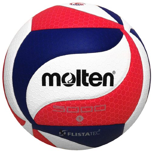 Molten FLISTATEC Volleyball - Official Volleyball of USA Volleyball, Red/White/Blue by Molten