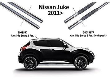 Omtec 5008997P - Barras laterales de paso, totalmente cromadas, para Nissan Juke - Estribos rectos con almohadillas: Amazon.es: Coche y moto