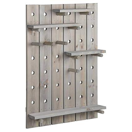 Amazon.com: Esschert Design - Pizarra de madera con estantes ...